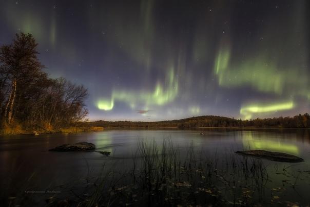 Северное сияние в СевероморскеАвтор фото - Любовь ...