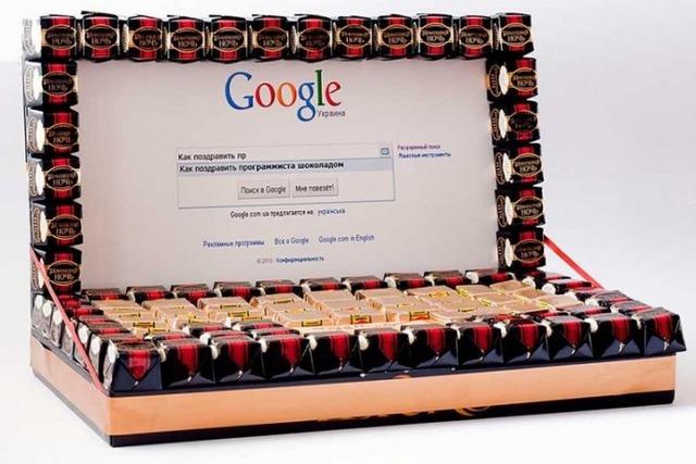 Как сделать ноутбук из конфет, как сделать компьютер из конфет своими руками мастер-класс, ,