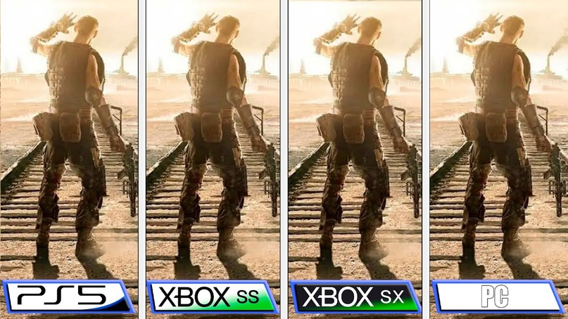 PlayStation 5 и Xbox Series против топового ПК в MetroExodus: Enhanced Edition....