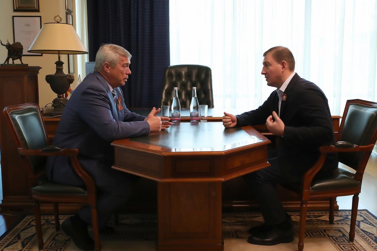 Василий Голубев и Андрей Турчак обсудили модернизацию транспортного комплекса в Таганроге