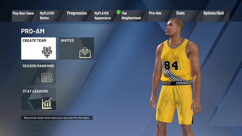 Как создать команду Pro-Am в NBA 2K21, изображение №2