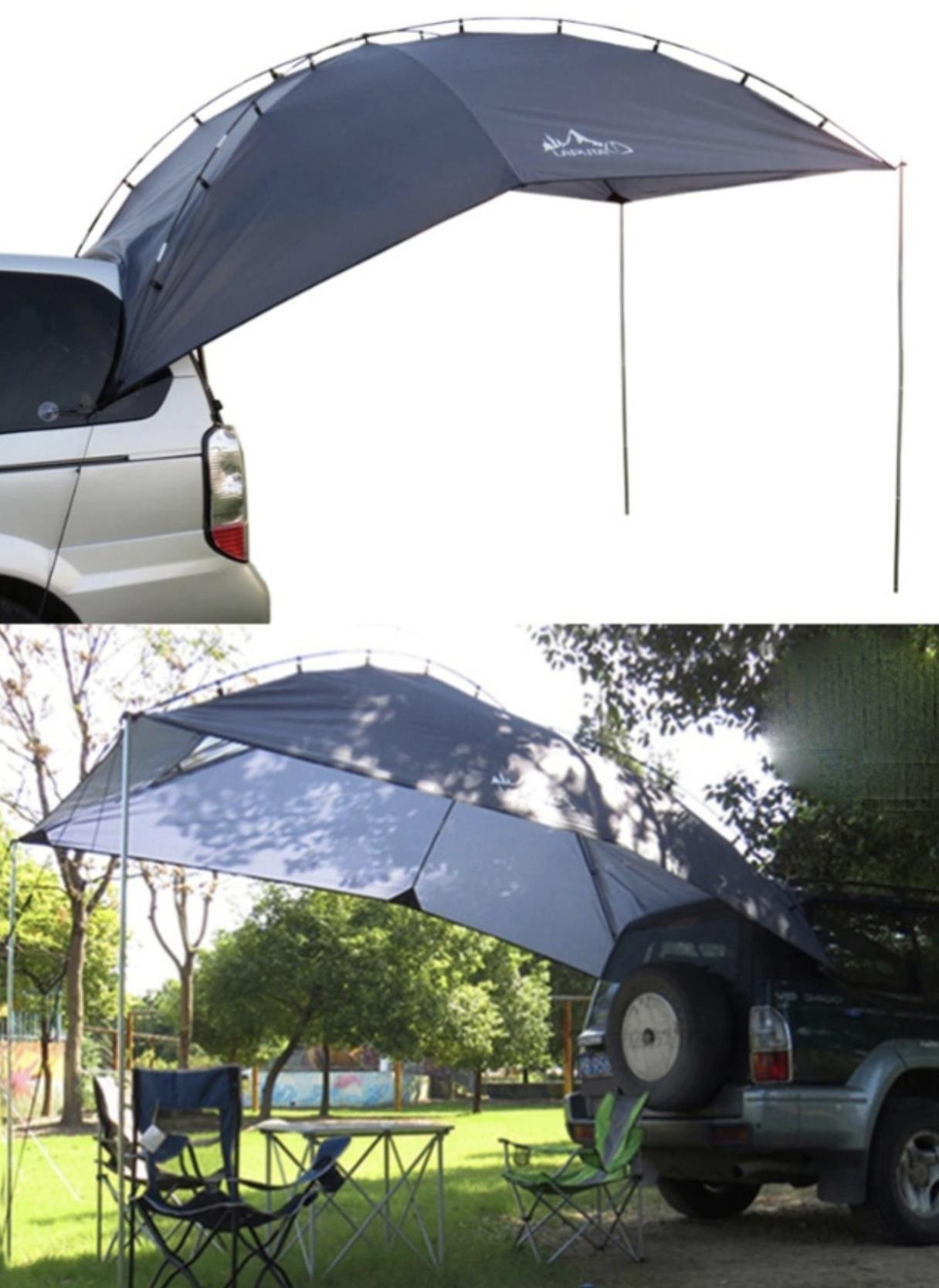 Тент на авто для выездов на природу летом классная штука