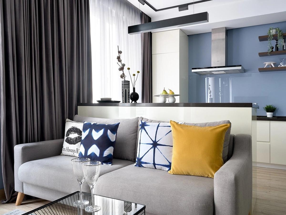 Дизайн апартаментов почти 40 кв.