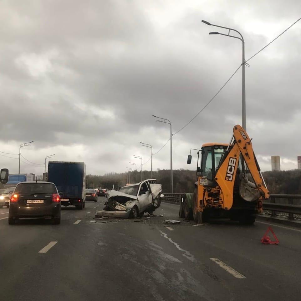 авария на Мызинском мосту в Нижнем Новгороде 20 октября