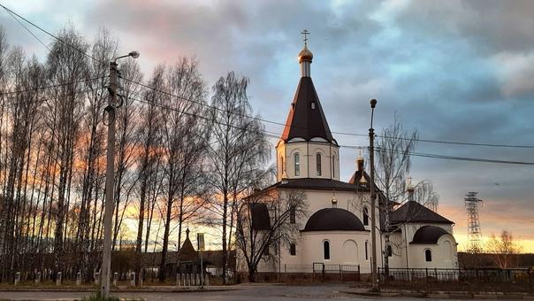Церковь Сорока Севастийских мучеников в лучах зака...
