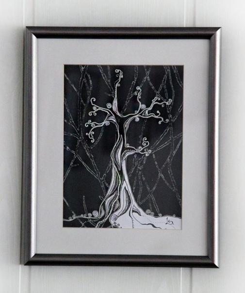 "Картина ""Зимнее дерево"" Автор:  Светлана Лазарева https://vk.com/l_s_in_fairytale Описание: 32х19 см Цена: 1500р."