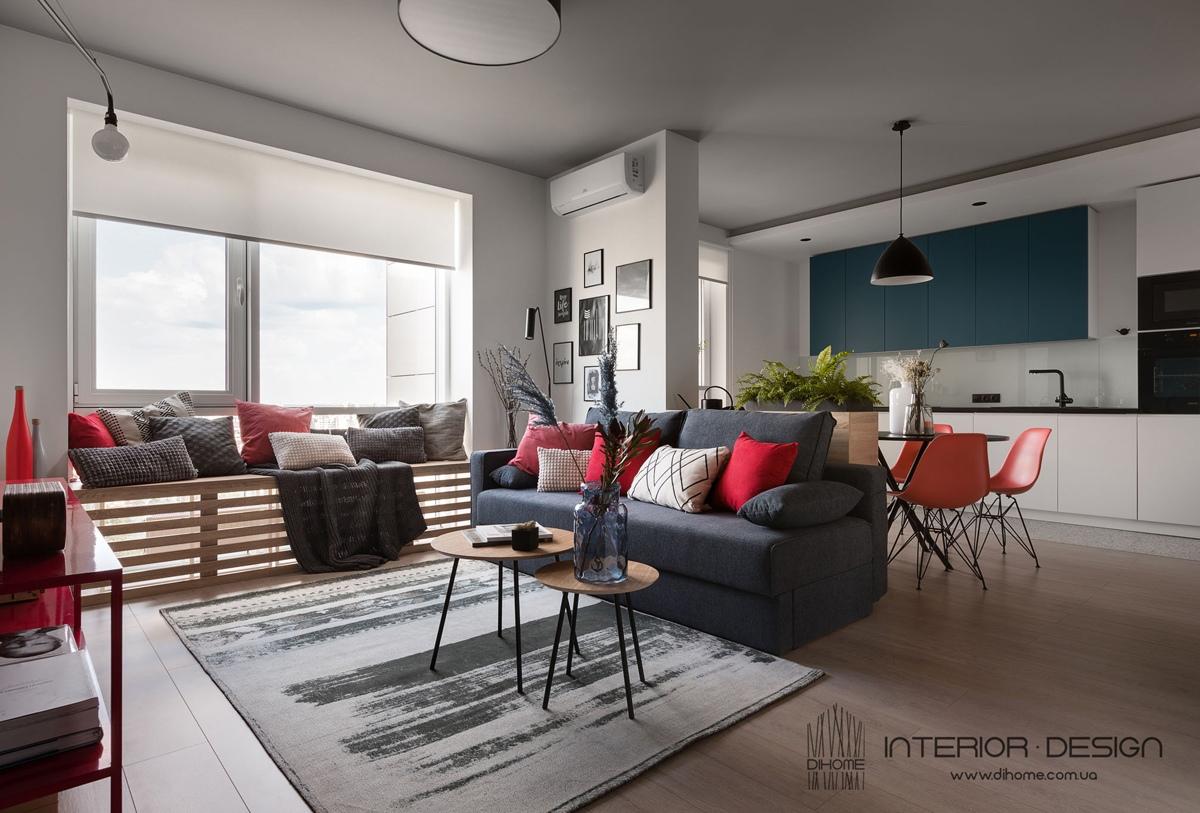 Интерьер квартиры 47 м в Киеве.