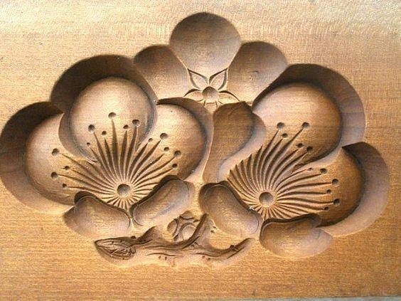 Японские деревянные резные формы Кашигата, изображение №14