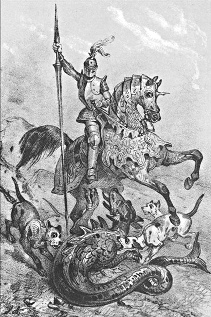 Жан Виктор Адам«Дьедонне де Гозон поражает дракона» 1850-е
