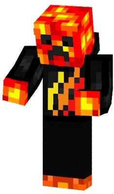 майнкрафт скин lava creeper #6