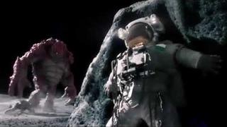 Папа Лунтика ищет сына. Монстр на луне убивает космонавтов.