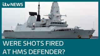 MoD dismisses Russian claims warning shots were fired at British destroyer in Black Sea   ITV News