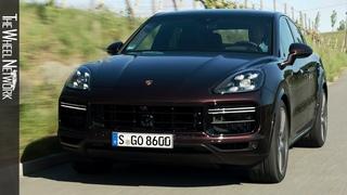 2020 Porsche Cayenne Turbo Coupe   Mahagoni Metallic   Driving, Interior, Exterior