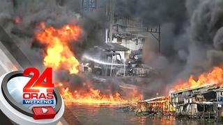 Fire hits cargo vessel at Delpan Bridge in Tondo, at least 3 hurt   24 Oras Weekend