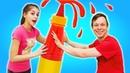 Смешные ЧЕЛЛЕНДЖИ - Попробуй Попади и Подушка Challenge! - Сборник видео шоу Вики и Феди
