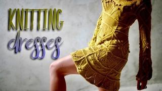 ВЯЖЕМ ПЛАТЬЯ СПИЦАМИ 👗 / ОБЗОР / Knitting Dresses Review