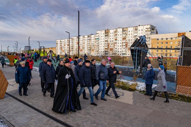 Открытие второй очереди строительства набережной Газовиков. Октябрь 2019 года.