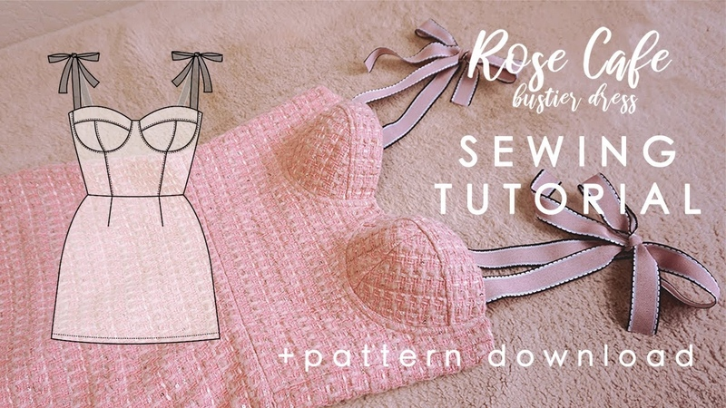 Bustier Dress Sewing Tutorial Rose Cafe Pattern Download