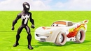 Молния Маквин Тачки 3 Гонки Супергерой Человек-Паук Мультики про Машинки Песенки Мультики для Детей