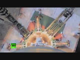Бортовая камера Союза-ФГ засняла момент аварии на ракете-носителе