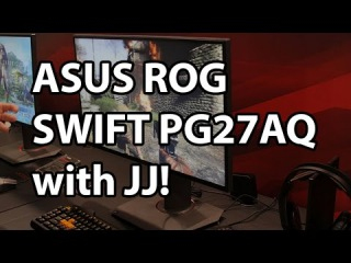 ASUS 27-inch ROG Swift PG27AQ 4K Gaming Monitor with NVIDIA G-SYNC and IPS - CES 2015