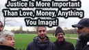Important one! What Is Justice And Injustice   Hashim Vs Lady Visitor   Speakers Corner