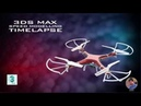 3DS Max - Quadcopter Speed Modelling - Timelapse