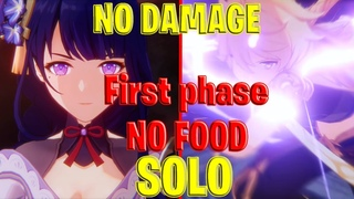 Genshin Impact Baal boss fight Story SOLO, NO DAMAGE, NO FOOD Geo MC gameplay