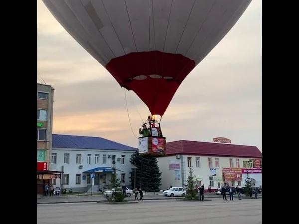 Взлет с площади Гагарина в Аткарске