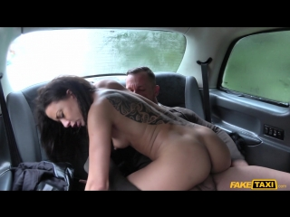 Hot wife sharing taxi threesome