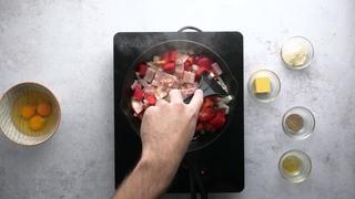 Кето-фритата. Простейший кетогенный рецепт для кето диеты от Аарон Дея - кулинара из Австралии