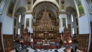 Божественная литургия 11 августа 2021 г., Свято-Успенская Святогорская лавра, Украина, г. Святогорск