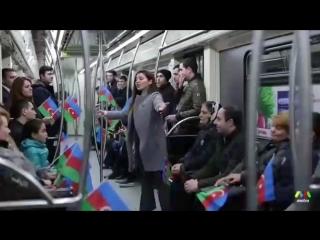 Bakı metrosunu hələm belə görməmişdiz Hər kəs Bayraqlara sarıldı Axıra kimi izləyin çox maraqlıdı