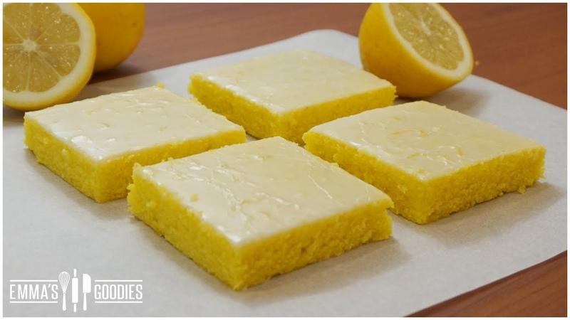 Glazed Lemon Cake Brownies Lemon Bars Recipe