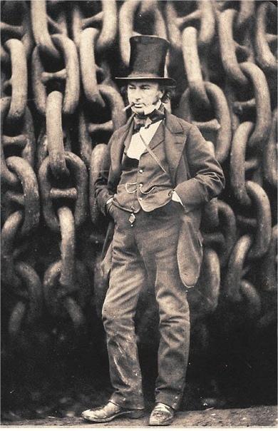 Изамбард Кингдом Брюнель ( 9 апреля 1806 - 15 сентября 1859) - британский инженер, одна из крупных фигур в истории Промышленной революции.