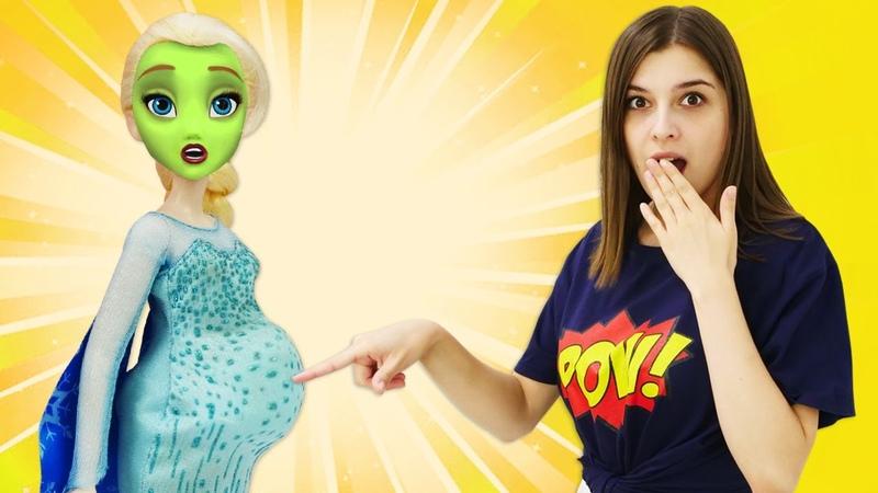 Куклы ПЕРЕЕЛИ вкусняшек Эльза холодное сердце на девичнике Смешные видео с куклами