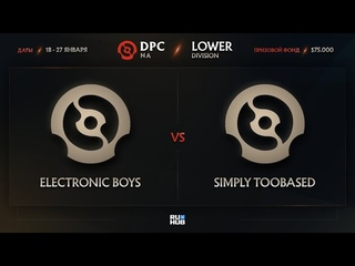 Electronic Boys vs simply TOOBASED, Dota Pro Circuit 2021: S1 - NA, bo3, game 2 [Lex & GGS]
