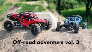 Off-road adventure vol 3. - LEGO Greyhound 4WD RC Buggy & JJRC Q39 1/12 4WD RC Buggy