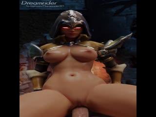 Demon hunter Overwatch Diablo 3 (porno, gif, 3d, 18+, порно, гиф, 3д, hentai)
