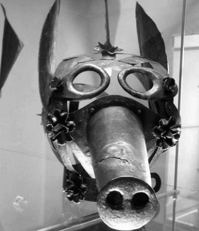 Позорная маска. Германия, 17 век. Позорные маски (нем. Schandmase) применялись для морального устрашения обывателей. Чтобы не переусердствовать с телесными наказаниями, уродующими и калечащими