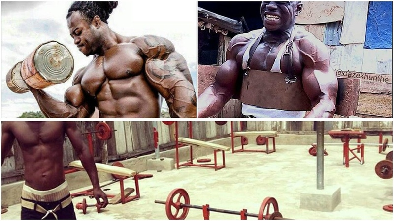 CRAZY! AFRICAN Fitness Blood, Sweat and Pain EVERYDAY!