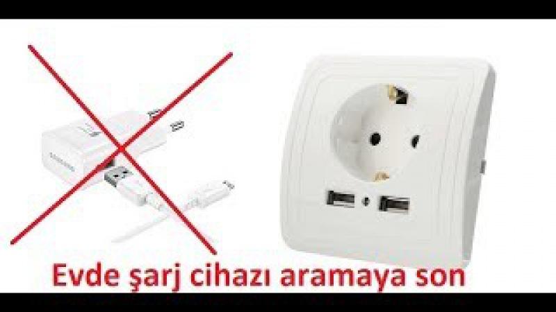 USB Portlu Duvar Priz ile evde şarj cihazı aramaya son