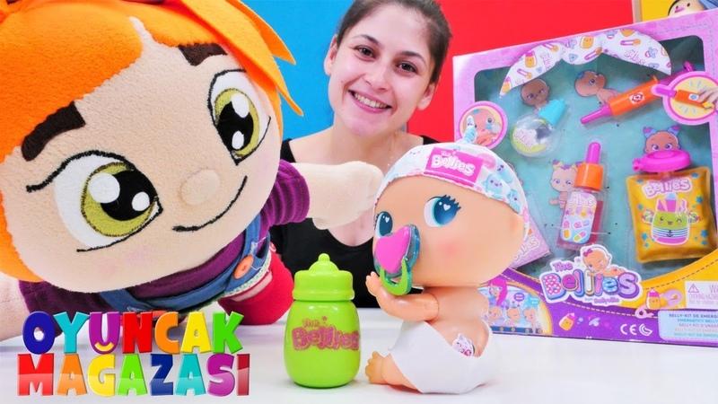 Bebek bakma BELLIES Baby ve bebek seti açalım Oyuncak mağazası