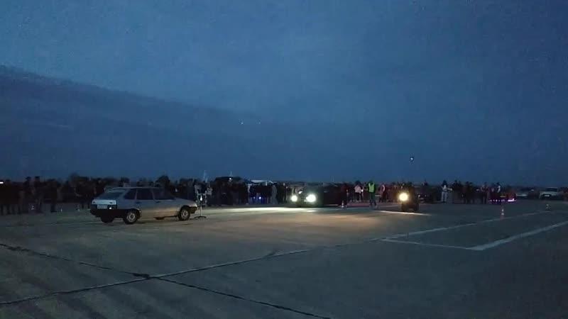 Mitsubishi Lancer Evolution 400 л с vs Мотоцикл 24 10 2020 Драг Рейсинг в Октябрьском