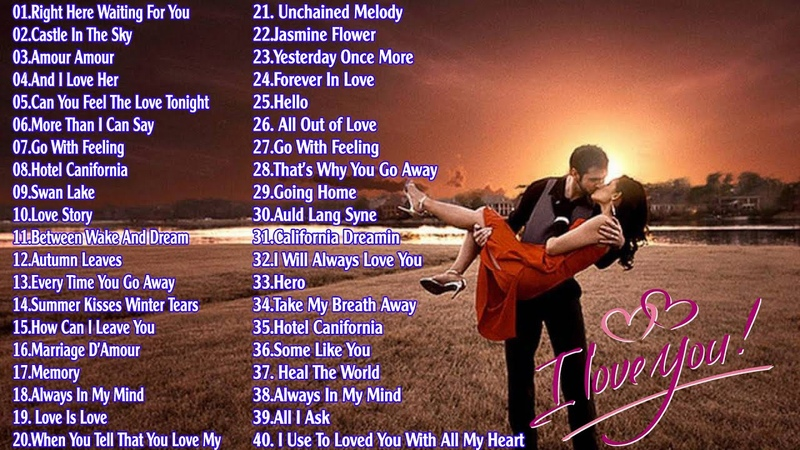 Top 50 Instrumental Love Songs Collection Beautiful Romantic Saxo Guitar Piano Violin Love Songs