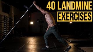 40 Best Landmine Exercises - Variations for Upper Body, Lower Body, Core, Strength & Power