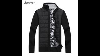 Liseaven брендовые мужские куртки зимние теплые пальто лоскутная дизайнерская куртка мужские парки верхняя одежда модная