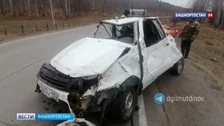 Смертельный поворот: водитель и пассажир погибли на трассе в Башкирии (ВИДЕО)