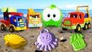 Для самых маленьких Om Nom Ам Ням и песочница на пляже. Учим цвета и счет. Развивающие мультики