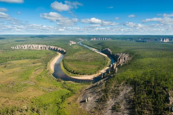 Каменный лес на реке Лена